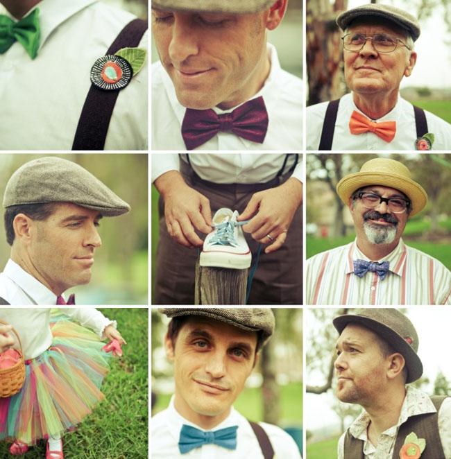 groomsmen in hats