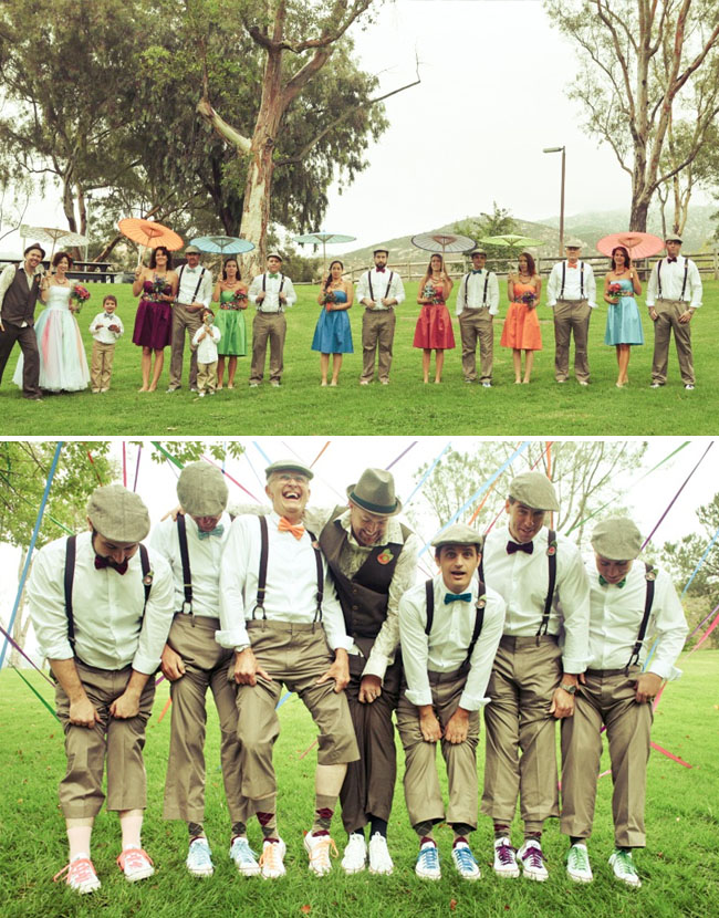 fun colorful bridal party