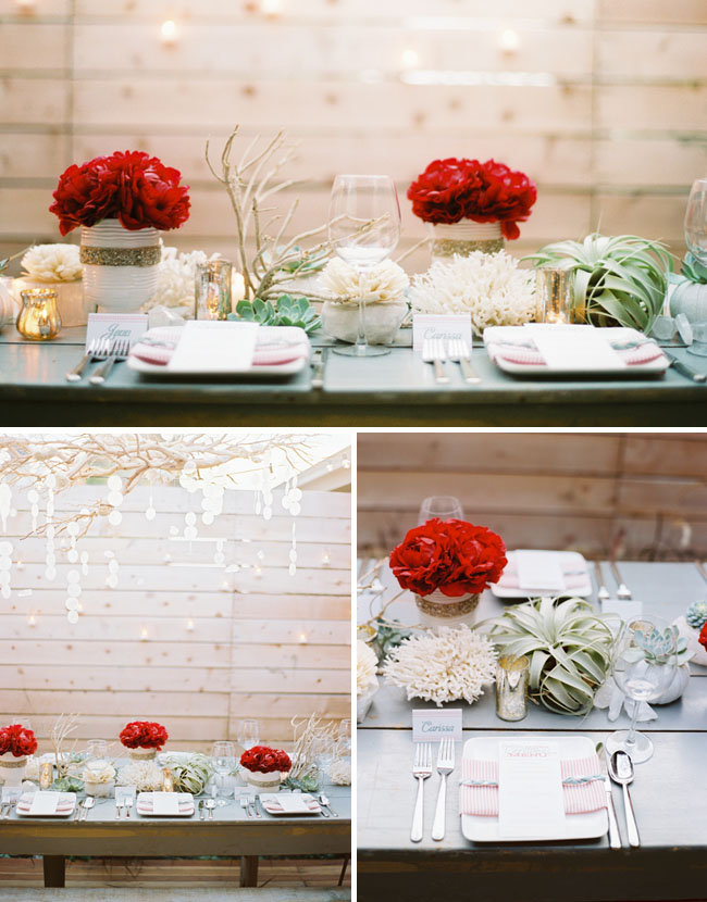 succulent and peony table design