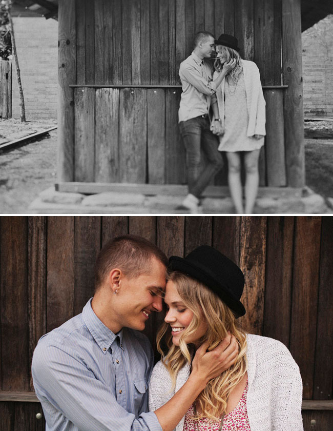 engagement photos by barn