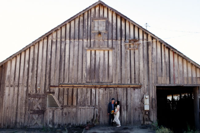 wedding at a barn