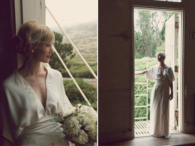 bride wearing elizabeth and james dress