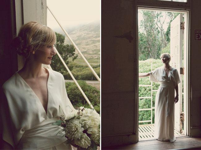 bride wearing elizabeth and james dress