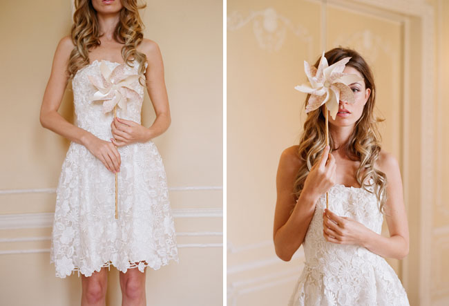 lace short wedding dress pinwheel