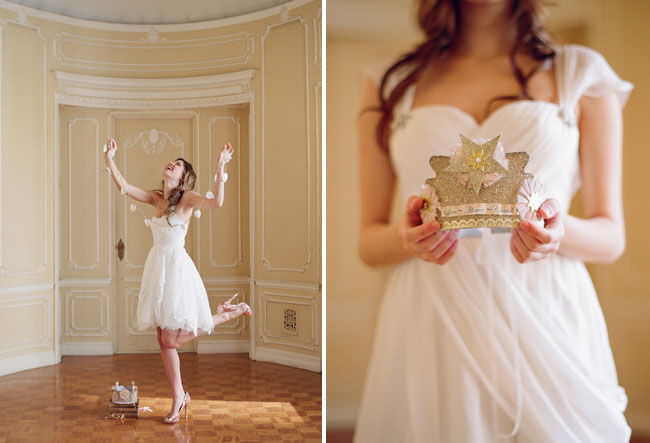 wedding dress with crown