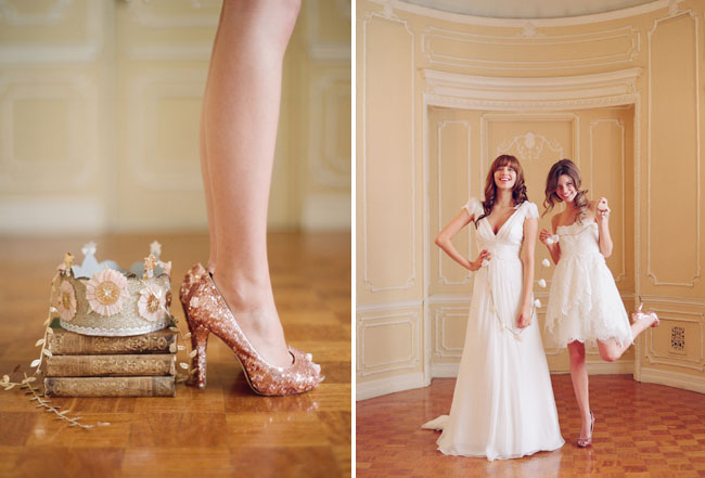 Sparkly Wedding Shoes Elizabeth Messina