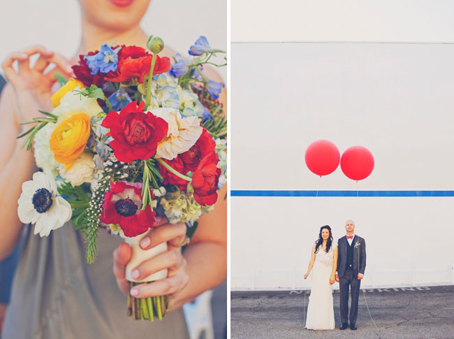 red balloons wedding
