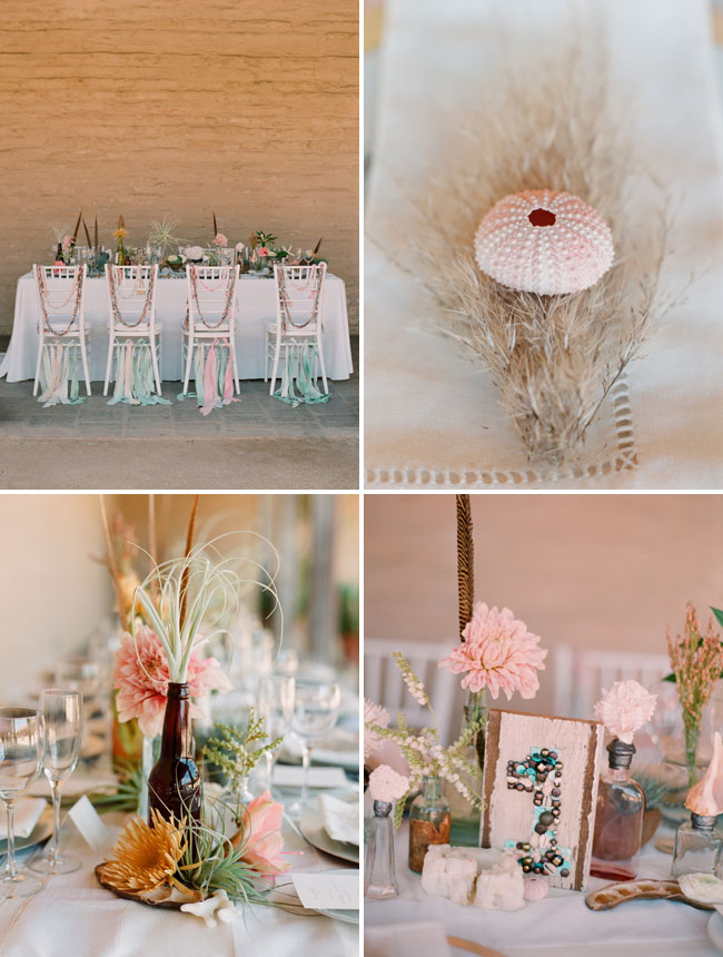 shipwrecked wedding table design