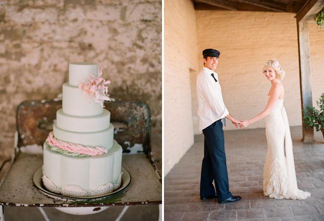 wedding cake with braids