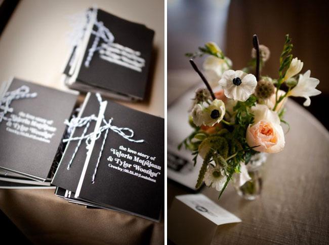 modern wedding programs