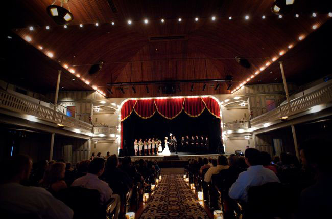 wedding on a stage