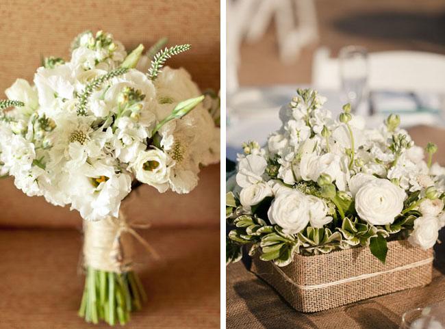 white beachy bouquet