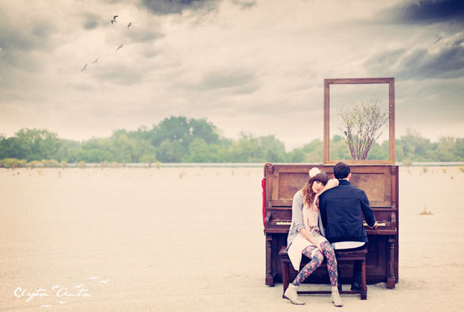 piano in a field photos