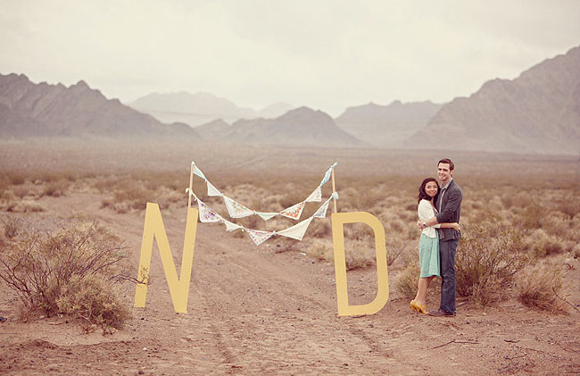 engagement photos with big letters