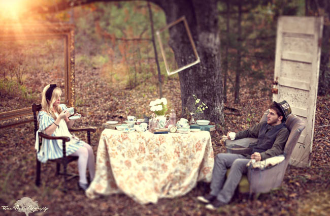 alice in wonderland engagement photos