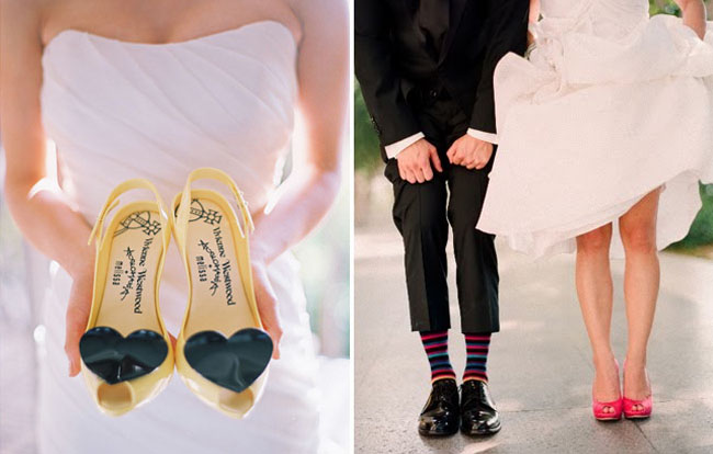 wedding shoes with hearts