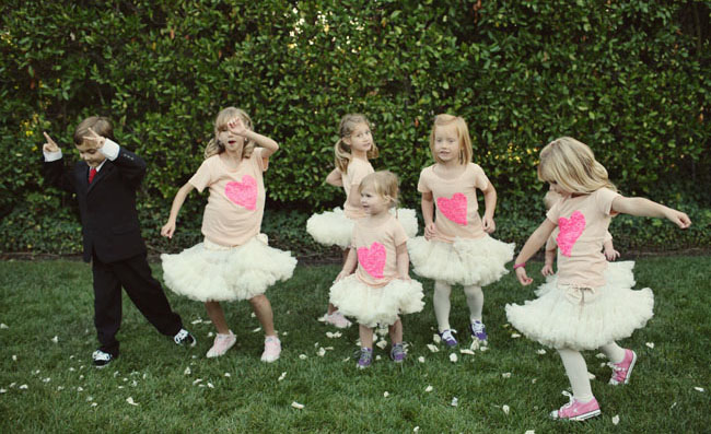 flower girls in tutus