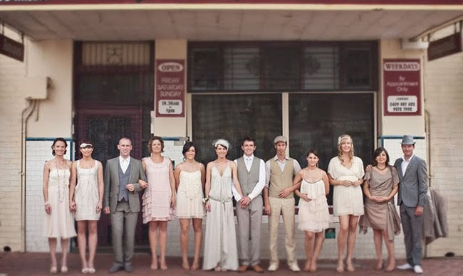 bridal party vintage outfits
