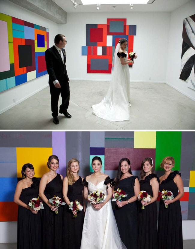 wedding in an art gallery