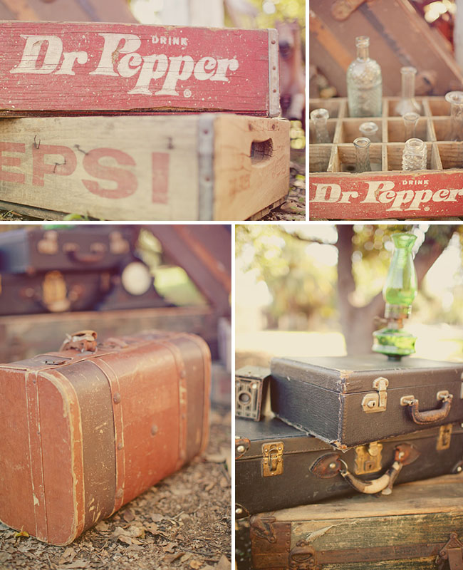 vintage soda boxes ribbons & rust