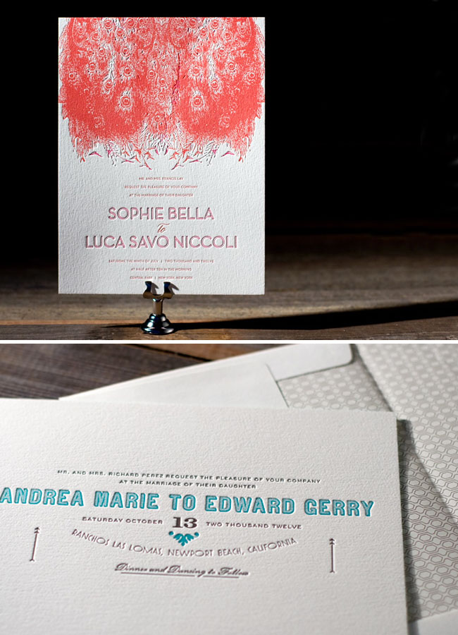 modern wedding invitations bella figura