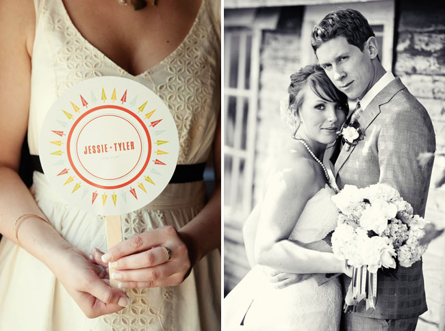 wedding program as fan