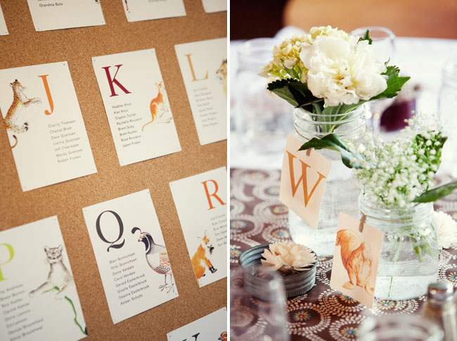 wedding name card table