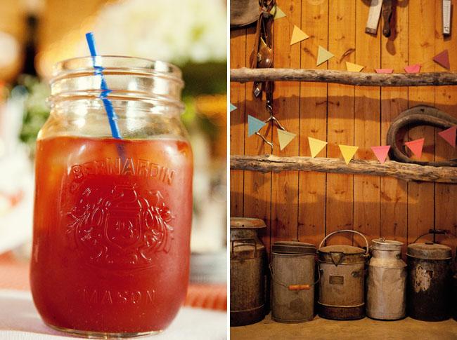 mason jar drink