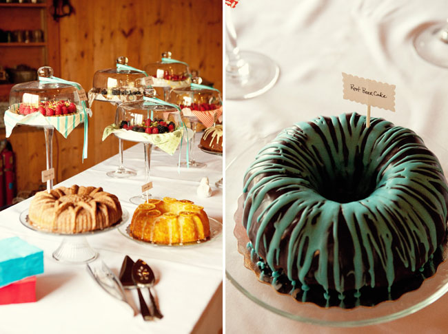 bundt cake table