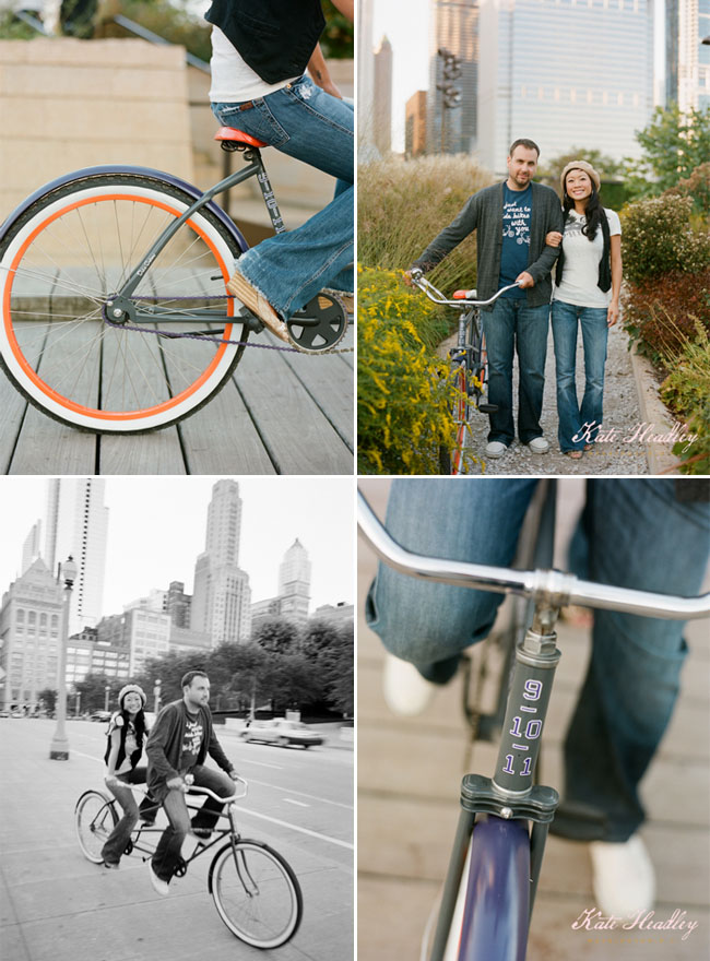 bike engagement photos