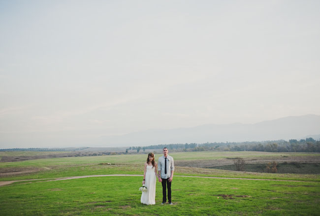 wedding in a field