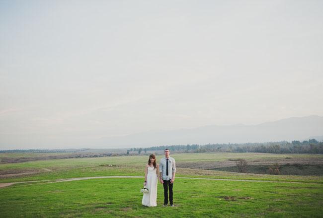 wedding in a field