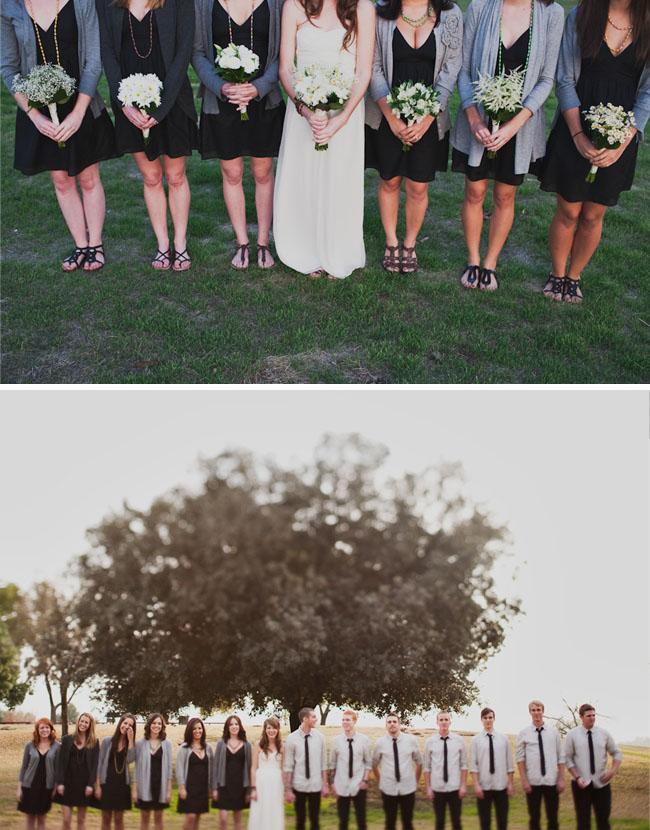 bridesmaids with shawls