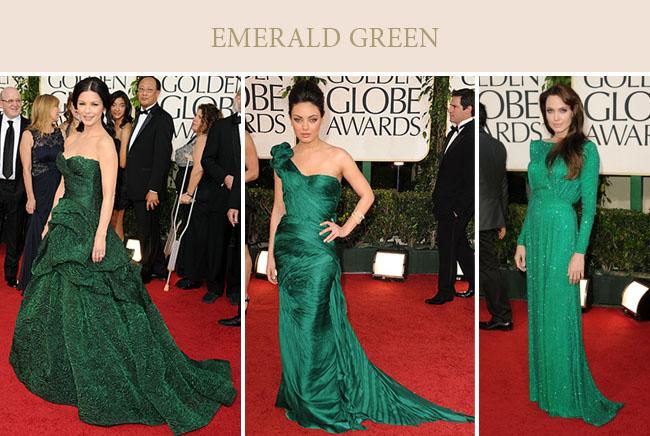 emerald green dresses mila kunis angelina jolie