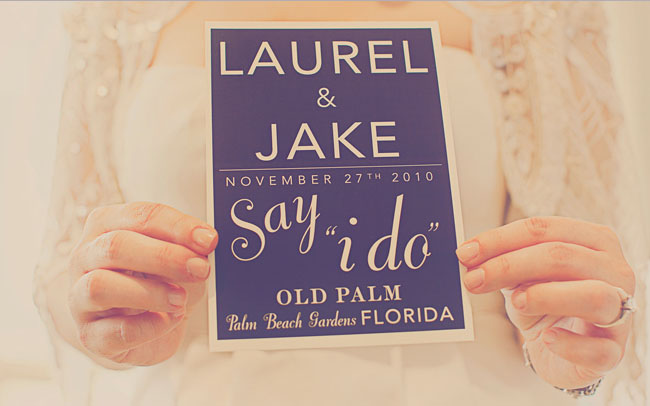 wedding program say i do