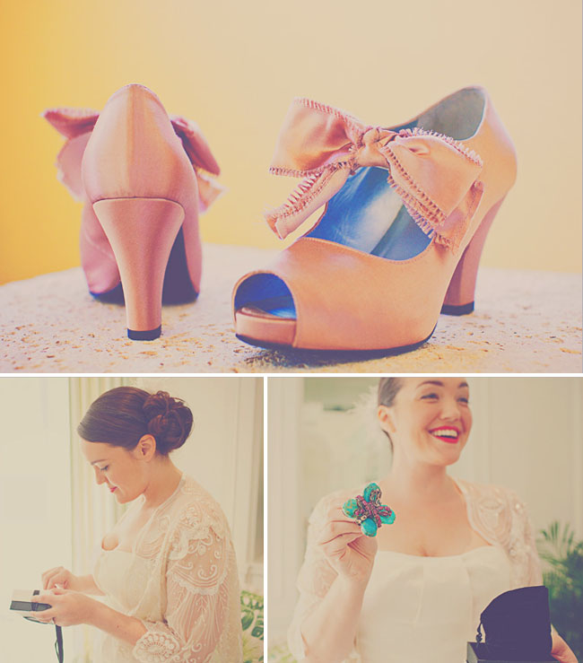 wedding shoes with a bow