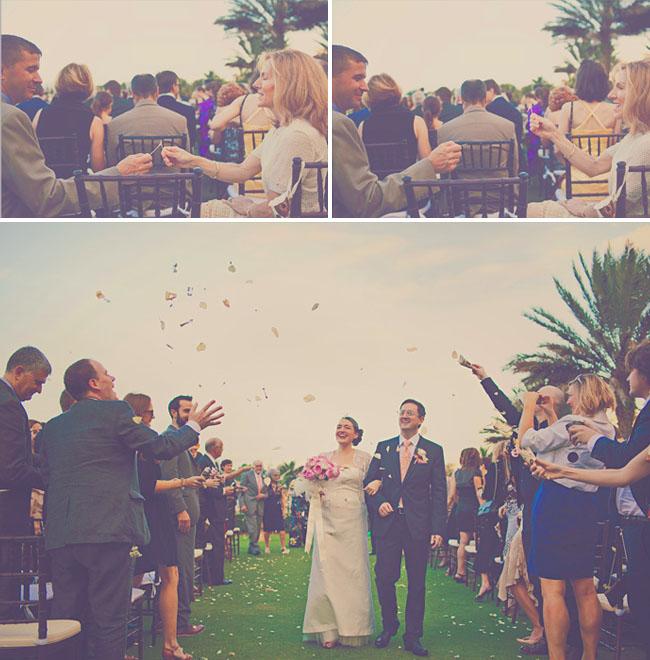outdoor wedding with wishbones