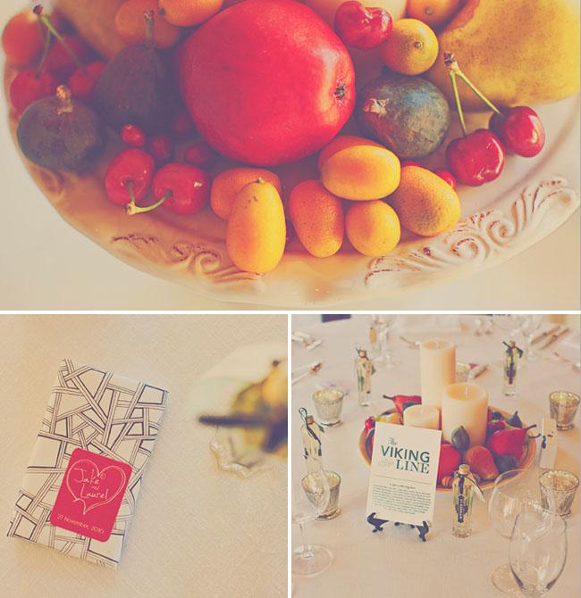 wedding details fruit