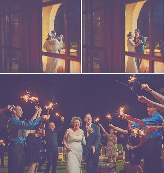 wedding sparklers exit