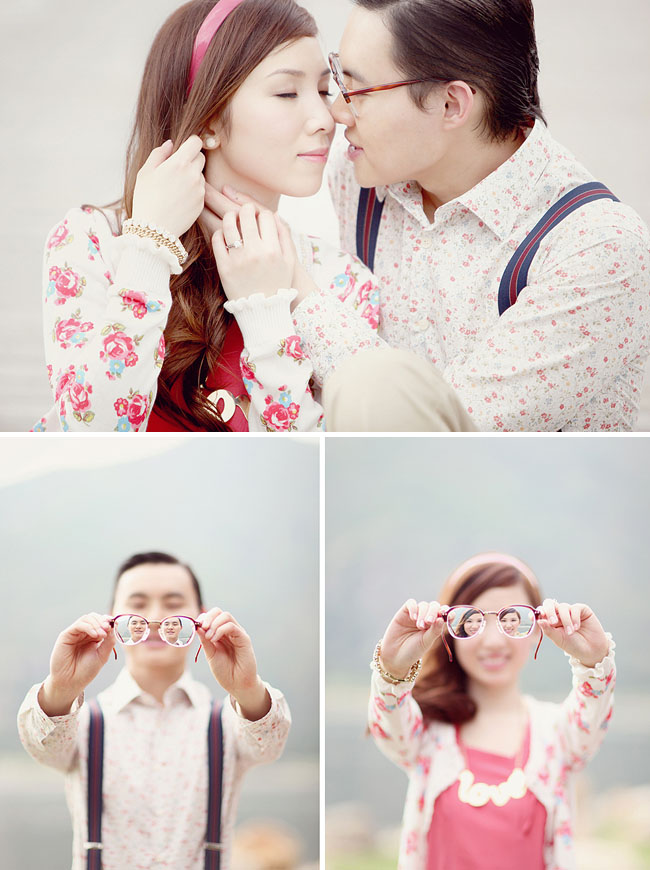 engagement photos with glasses