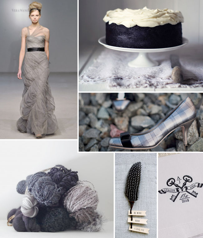 black and dusty gray inspiration board