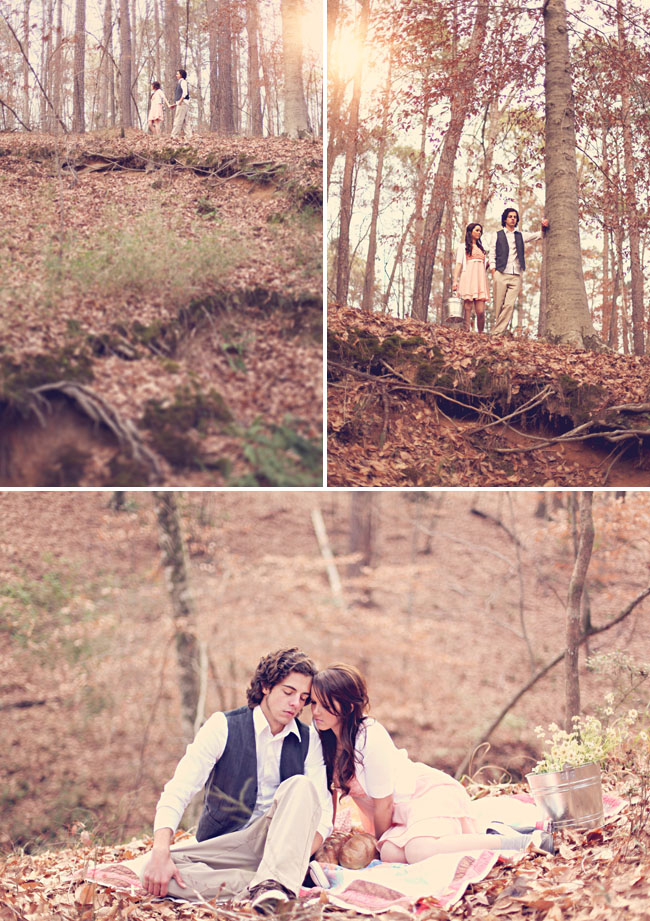 engagement photos on a hill