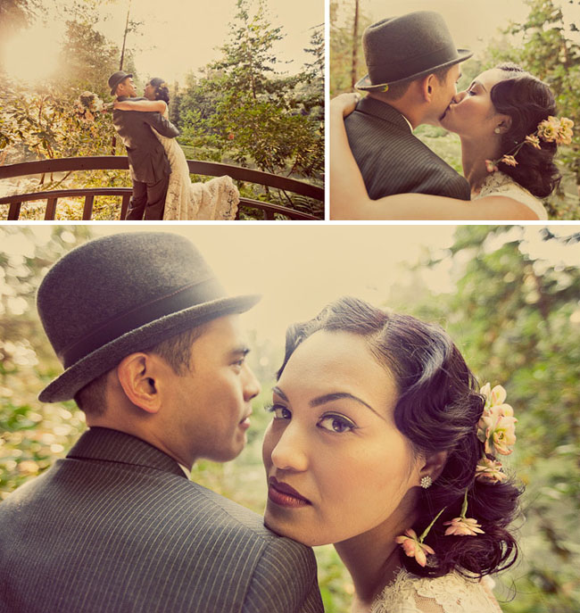 1920's inspired wedding photos