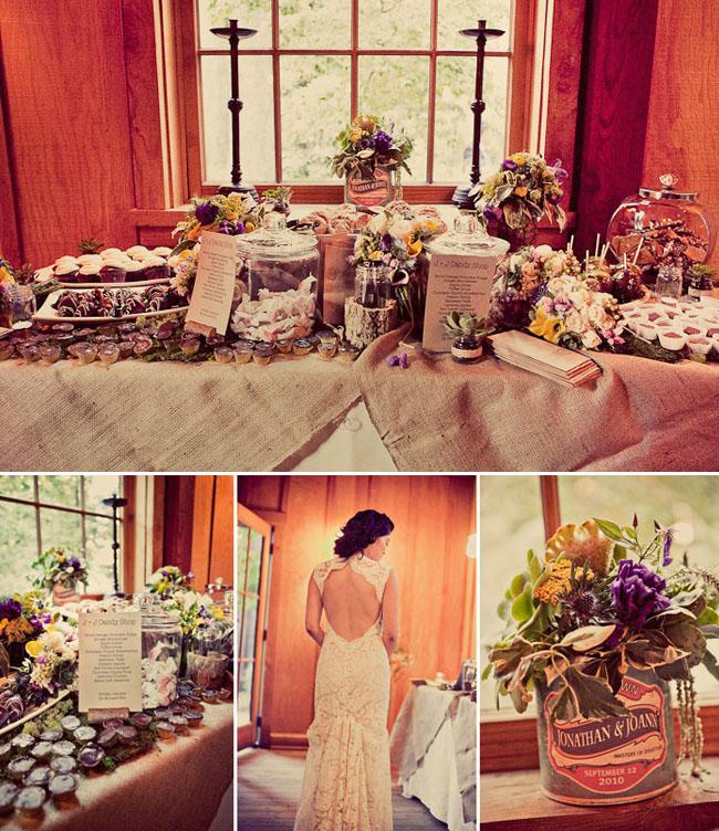 bride in lace wedding dress