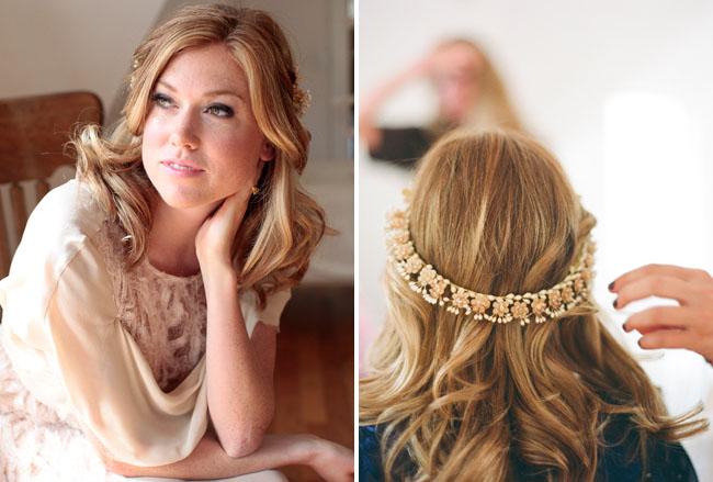 wedding vintage gold crown