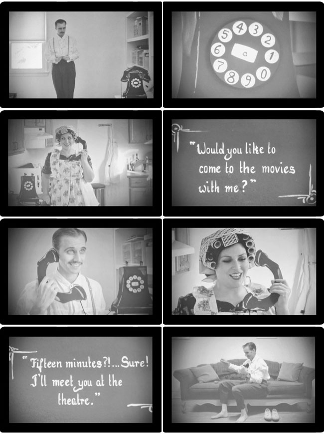 silent movie stills wedding