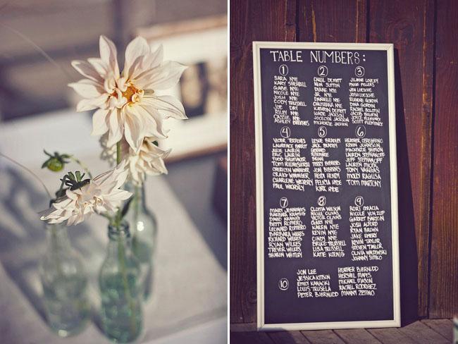 dahlia wedding centerpiece