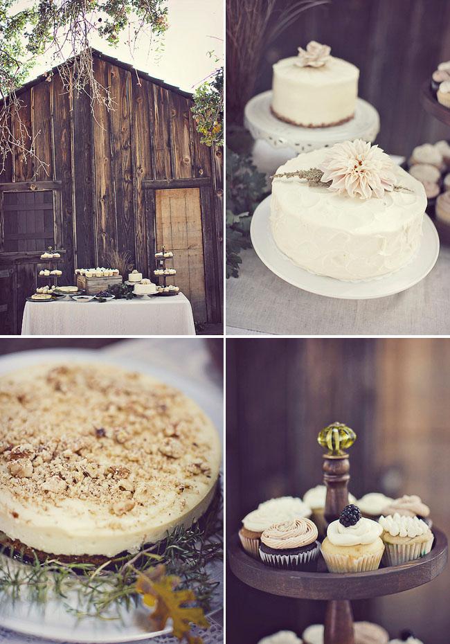 wedding rustic dessert table