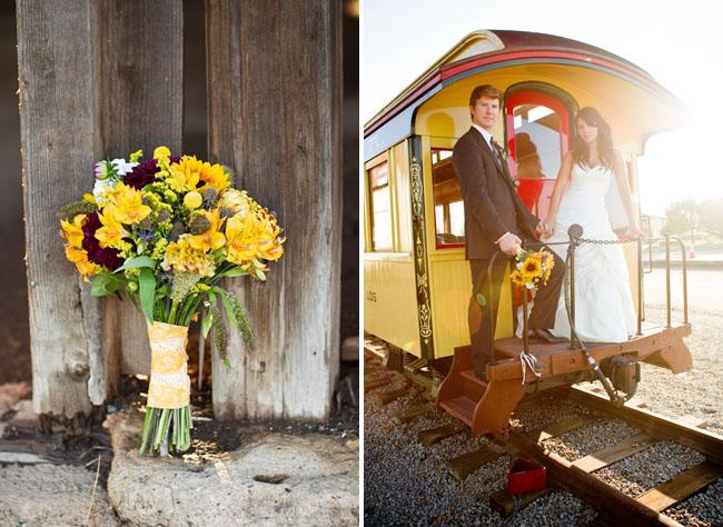 bridal bouquet yellow