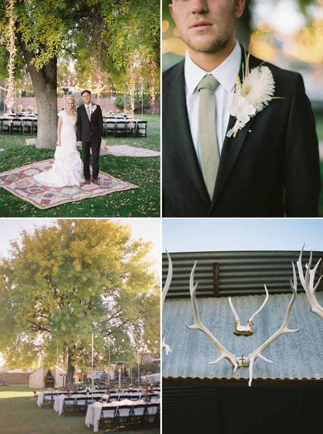 antlers at wedding